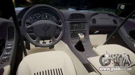 Chevrolet Corvette Z06 (C5) 2002 v2.0 for GTA 4 inner view
