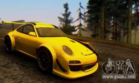 Porsche 911 GT3 R 2009 Black Yellow for GTA San Andreas