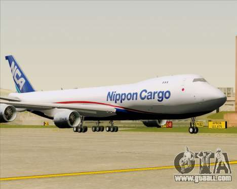 Boeing 747-8 Cargo Nippon Cargo Airlines for GTA San Andreas back view