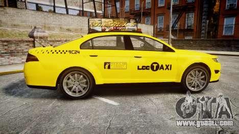 GTA V Vapid Taurus Taxi LCC for GTA 4 left view