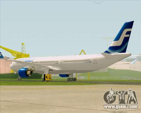 Airbus A330-300 Finnair (Old Livery) for GTA San Andreas right view