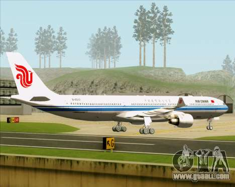 Airbus A330-300 Air China for GTA San Andreas back view