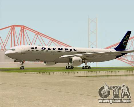 Airbus A330-300 Olympic Airlines for GTA San Andreas side view