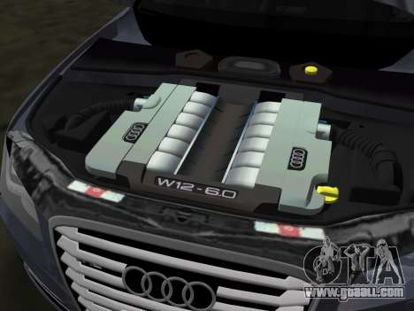 Audi A8 2010 W12 Rim3 for GTA Vice City bottom view
