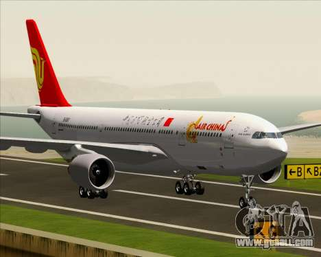 Airbus A330-200 Air China for GTA San Andreas bottom view