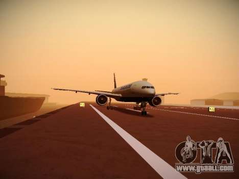 Boeing 777-212ER Transaero Airlines for GTA San Andreas side view