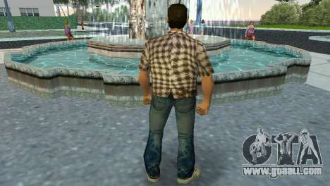 Kockas polo - koszos T-Shirt for GTA Vice City third screenshot