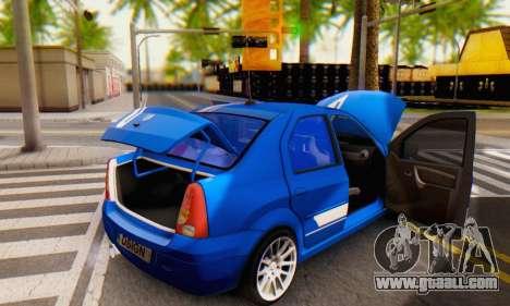 Dacia Logan Tuning Rally (B 48 CUP) for GTA San Andreas upper view