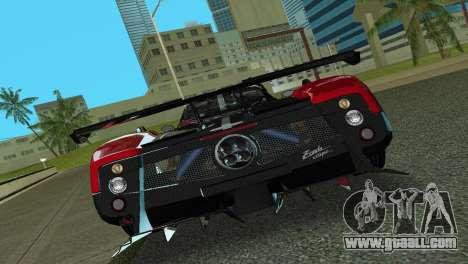 Pagani Zonda Cinque for GTA Vice City back view