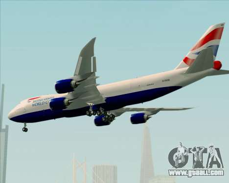 Boeing 747-8 Cargo British Airways World Cargo for GTA San Andreas wheels