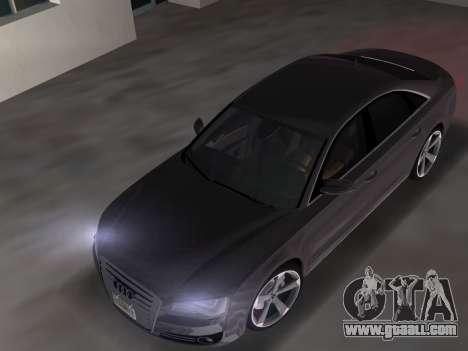 Audi A8 2010 W12 Rim3 for GTA Vice City right view