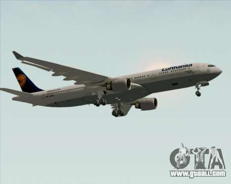Airbus A330-300 Lufthansa for GTA San Andreas inner view