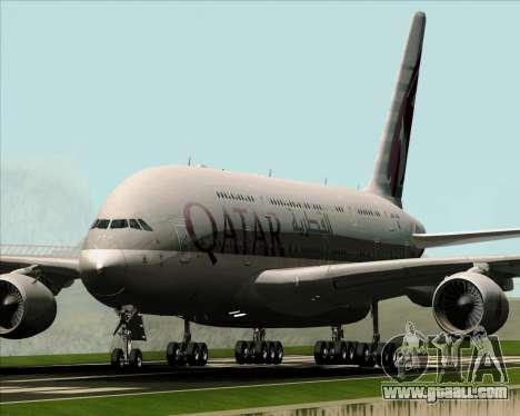 Airbus A380-861 Qatar Airways for GTA San Andreas left view