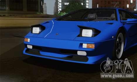 Lamborghini Diablo SV 1995 (ImVehFT) for GTA San Andreas side view