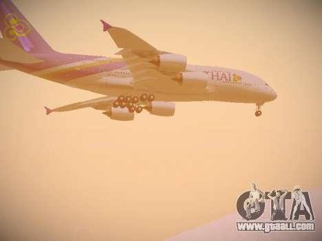 Airbus A380-800 Thai Airways International for GTA San Andreas inner view