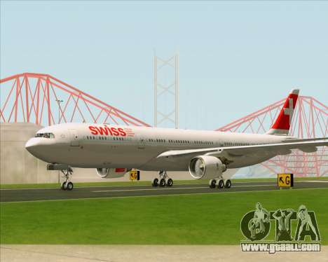 Airbus A330-300 Swiss International Air Lines for GTA San Andreas inner view
