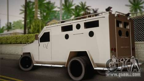 FBI Armored Vehicle v1.2 for GTA San Andreas left view