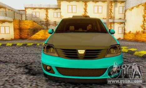Dacia Logan Pearl Blue for GTA San Andreas left view
