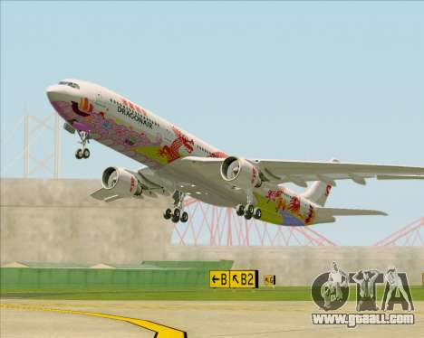 Airbus A330-300 Dragonair (20th Year Livery) for GTA San Andreas inner view