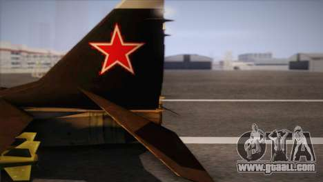 MIG 29 Russian Air Force From Ace Combat for GTA San Andreas right view