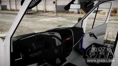 Mercedes-Benz Sprinter Police 2014 for GTA 4 back left view