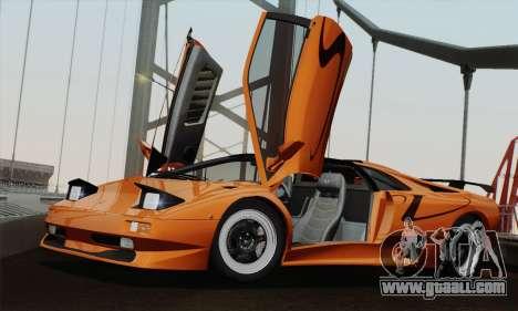 Lamborghini Diablo SV 1995 (HQLM) for GTA San Andreas back left view