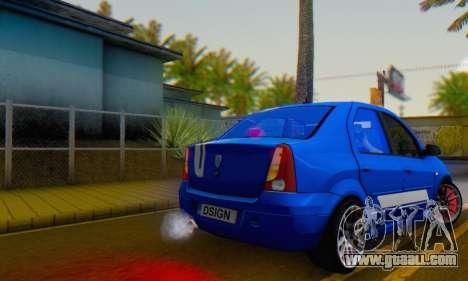 Dacia Logan Tuning Rally (B 48 CUP) for GTA San Andreas left view