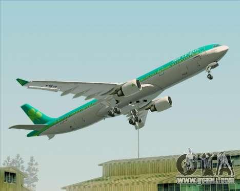 Airbus A330-300 Aer Lingus for GTA San Andreas wheels