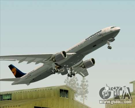 Airbus A330-300 Lufthansa for GTA San Andreas wheels