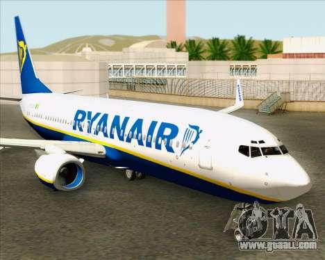 Boeing 737-8AS Ryanair for GTA San Andreas