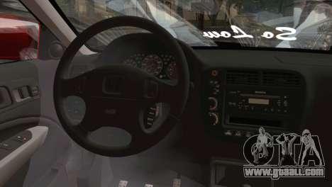 Honda Civic 1999 for GTA San Andreas back left view