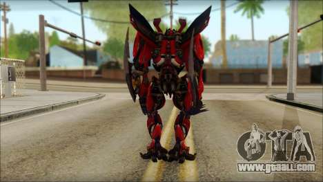 Dino Mirage (transformers Dark of the moon) v1 for GTA San Andreas second screenshot