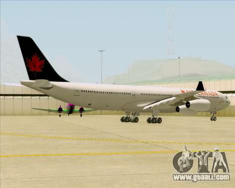 Airbus A340-313 Air Canada for GTA San Andreas right view