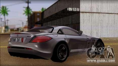 Mercedes-Benz SLR 722 for GTA San Andreas left view
