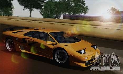Lamborghini Diablo SV 1995 (HQLM) for GTA San Andreas right view