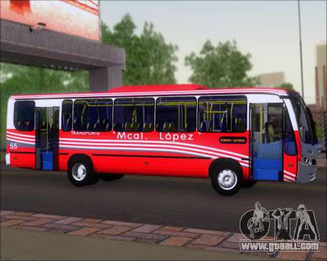 Neobus Spectrum Linea 38 Mcal. Lopez for GTA San Andreas back view