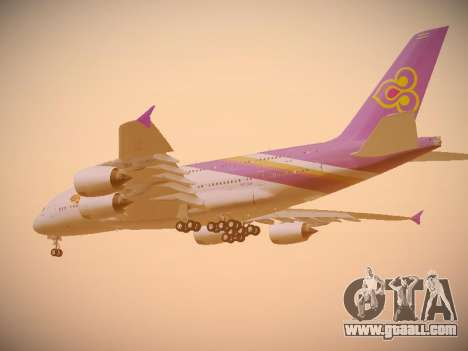 Airbus A380-800 Thai Airways International for GTA San Andreas back view
