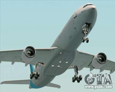 Airbus A330-300 Air Inter for GTA San Andreas back view
