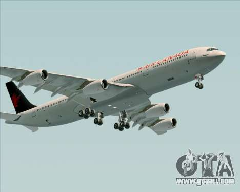 Airbus A340-313 Air Canada for GTA San Andreas back view
