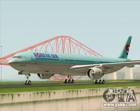 Airbus A330-300 Korean Air for GTA San Andreas left view