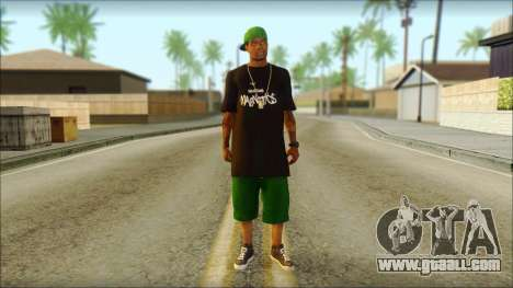 New Grove Street Family Skin v3 for GTA San Andreas