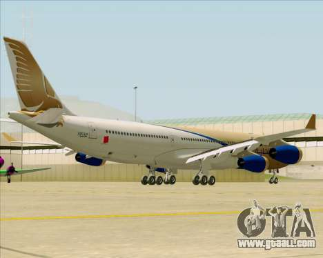 Airbus A340-313 Gulf Air for GTA San Andreas back view