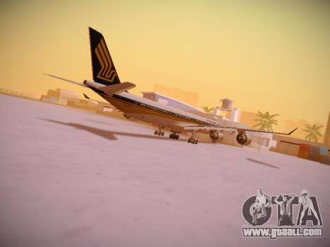 Airbus A340-600 Singapore Airlines for GTA San Andreas interior