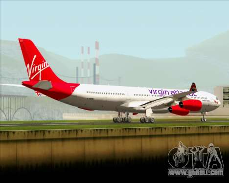 Airbus A340-313 Virgin Atlantic Airways for GTA San Andreas back left view