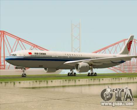 Airbus A330-300 Air China for GTA San Andreas left view