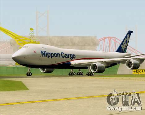 Boeing 747-8 Cargo Nippon Cargo Airlines for GTA San Andreas left view