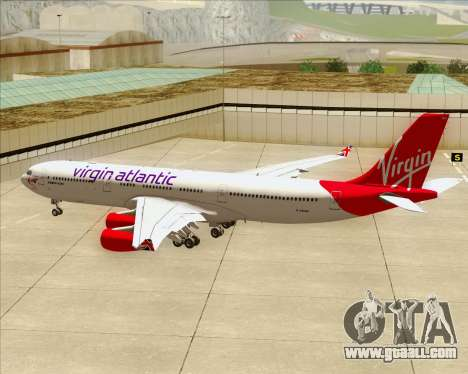 Airbus A340-313 Virgin Atlantic Airways for GTA San Andreas wheels