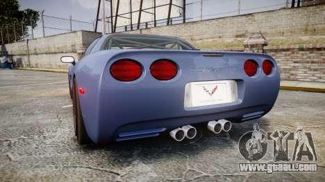 Chevrolet Corvette Z06 (C5) 2002 v2.0 for GTA 4 back left view