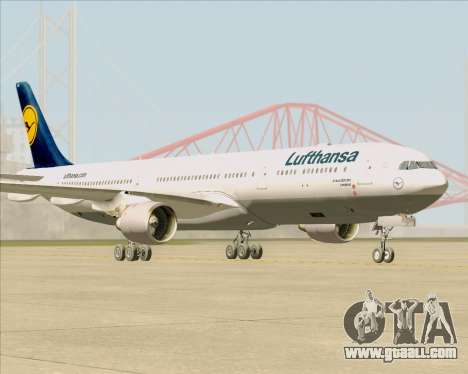 Airbus A330-300 Lufthansa for GTA San Andreas back left view