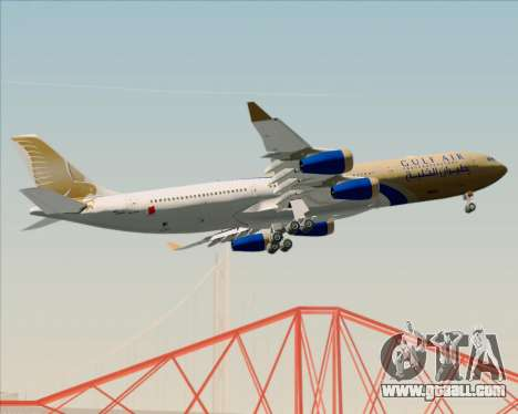 Airbus A340-313 Gulf Air for GTA San Andreas side view